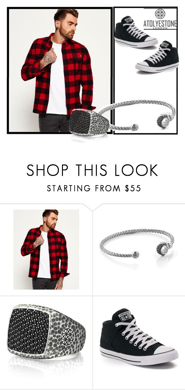 """Atolyestone 38"" by minka-989 ❤ liked on Polyvore featuring Superdry, Converse, men's fashion, menswear and atolyestone"