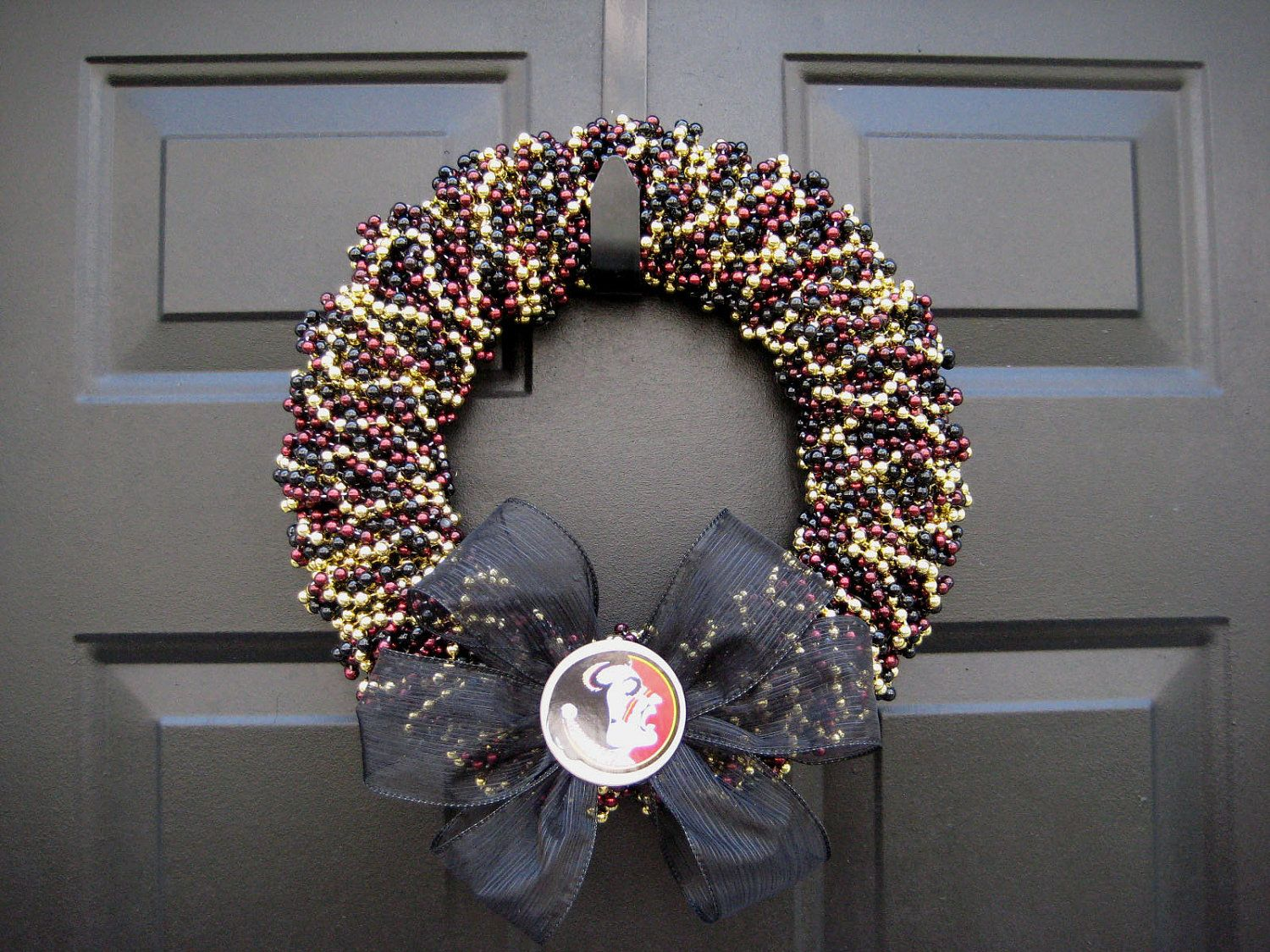 Fsu Wreath Seminoles Beaded