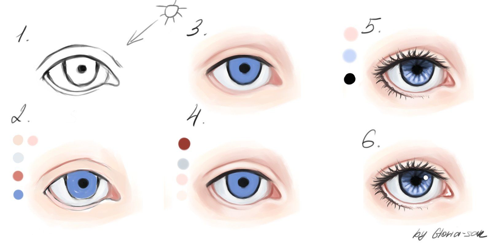 How To Draw Semi Realistic Eyes Google Search How To Draw 3 In