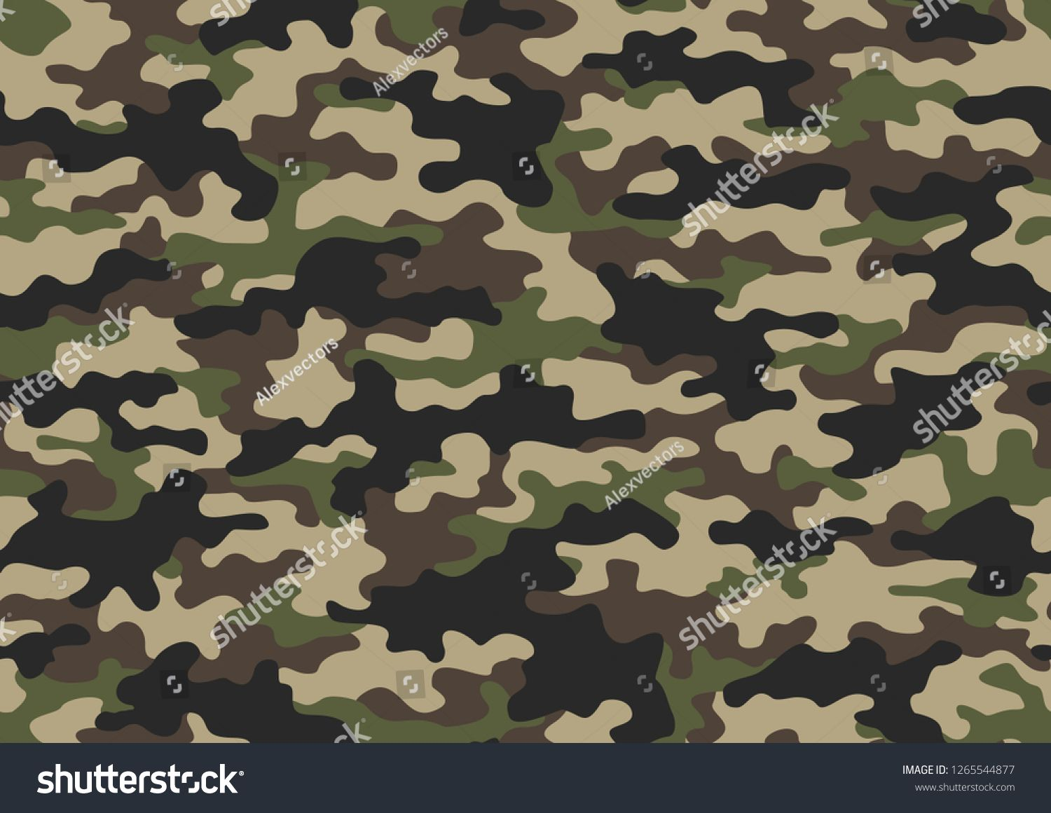 Texture Military Camouflage Seamless Pattern Abstract Army And