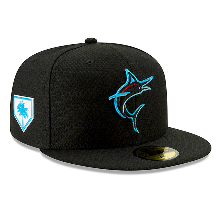 00c56a7f Miami Marlins New Era 2019 MLB Spring Training 59FIFTY Cap in 2019    Featured Collection   New era hats, Miami marlins, Baseball cap
