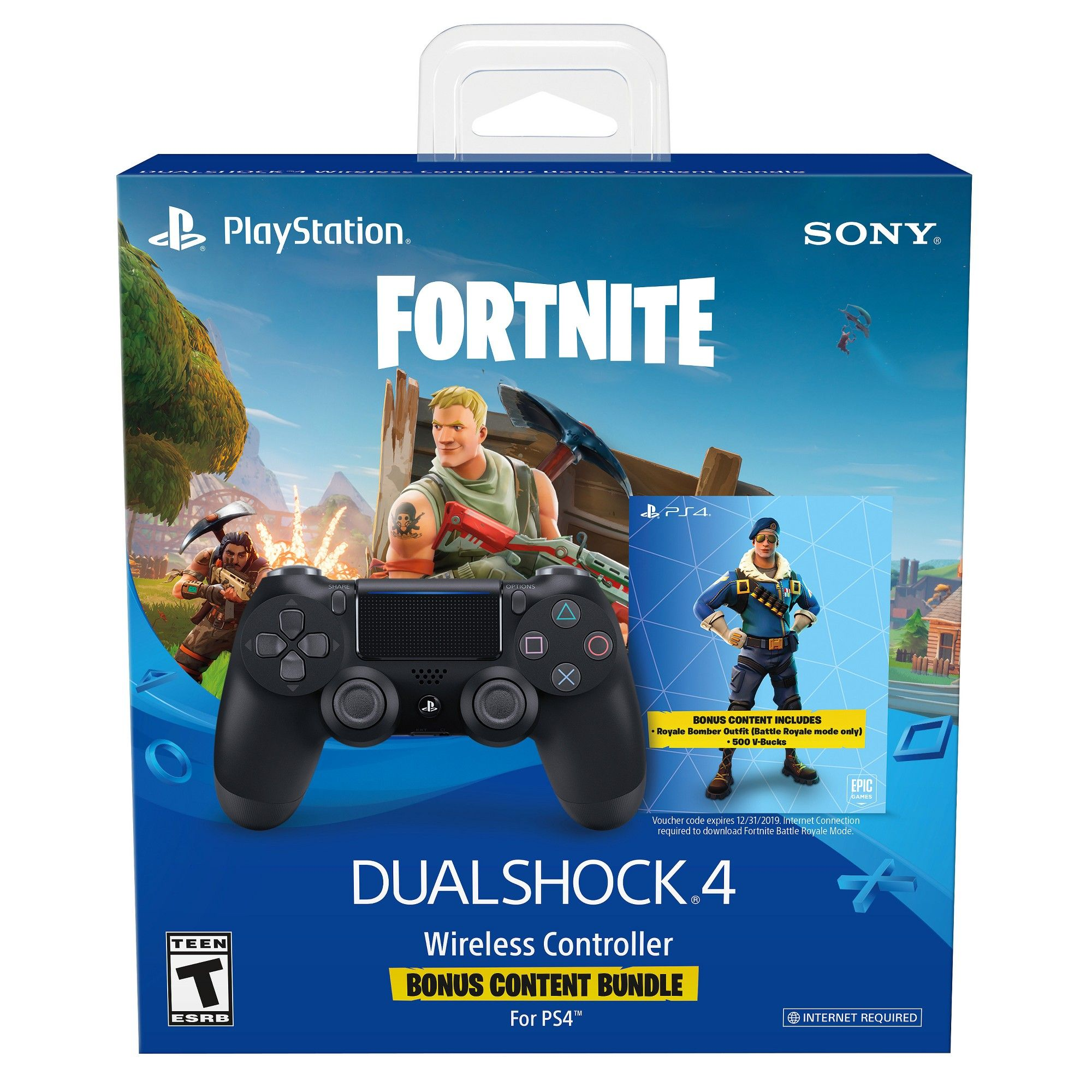 Dualshock 4 Fortnite Bonus Bundle Wireless Controller Playstation 4