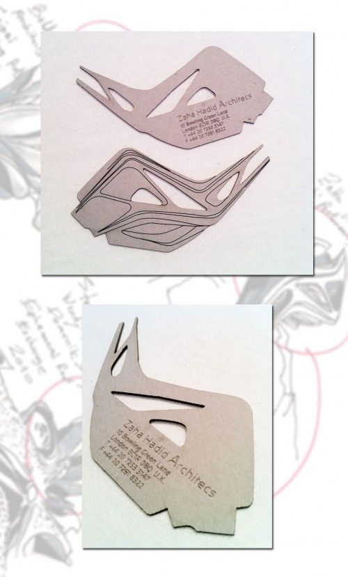 Business card from Zaha Hadid Architecture