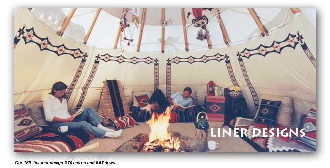 Hand painted teepee liners for sale nomadics tipi for Reliable tipi