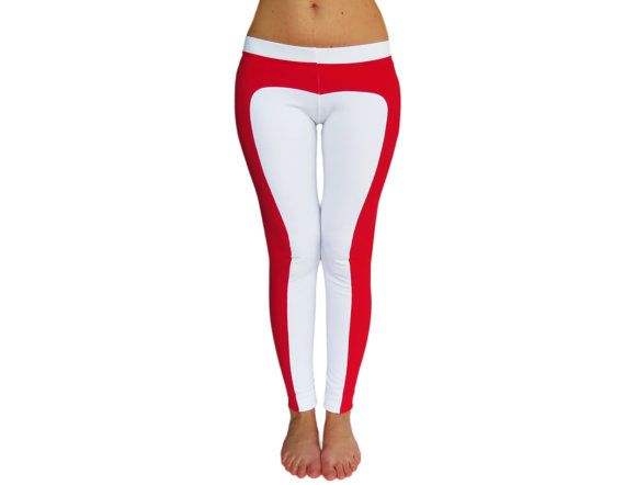 Heart Shape Pants, White Leggings, Heart Leggings, Sexy Leggings ...