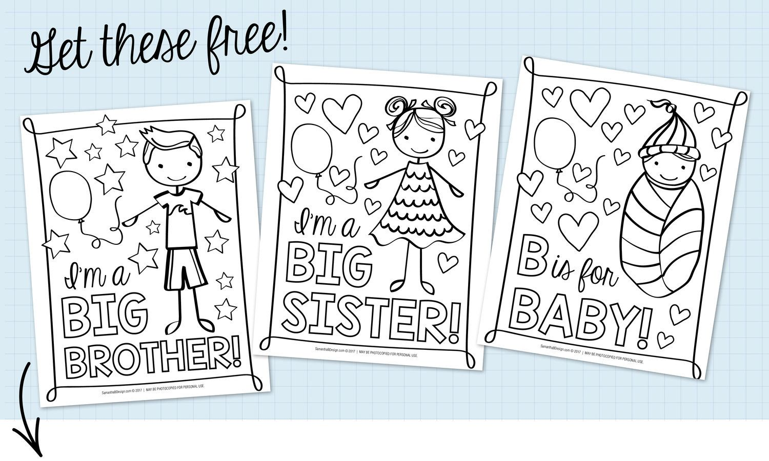 Free Coloring Sheets For Baby Shower With Images