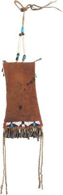 American Indian Art:Beadwork and Quillwork, A KIOWA BEADED HIDE STRIKE-A-LIGHT BAG. c. 1880...