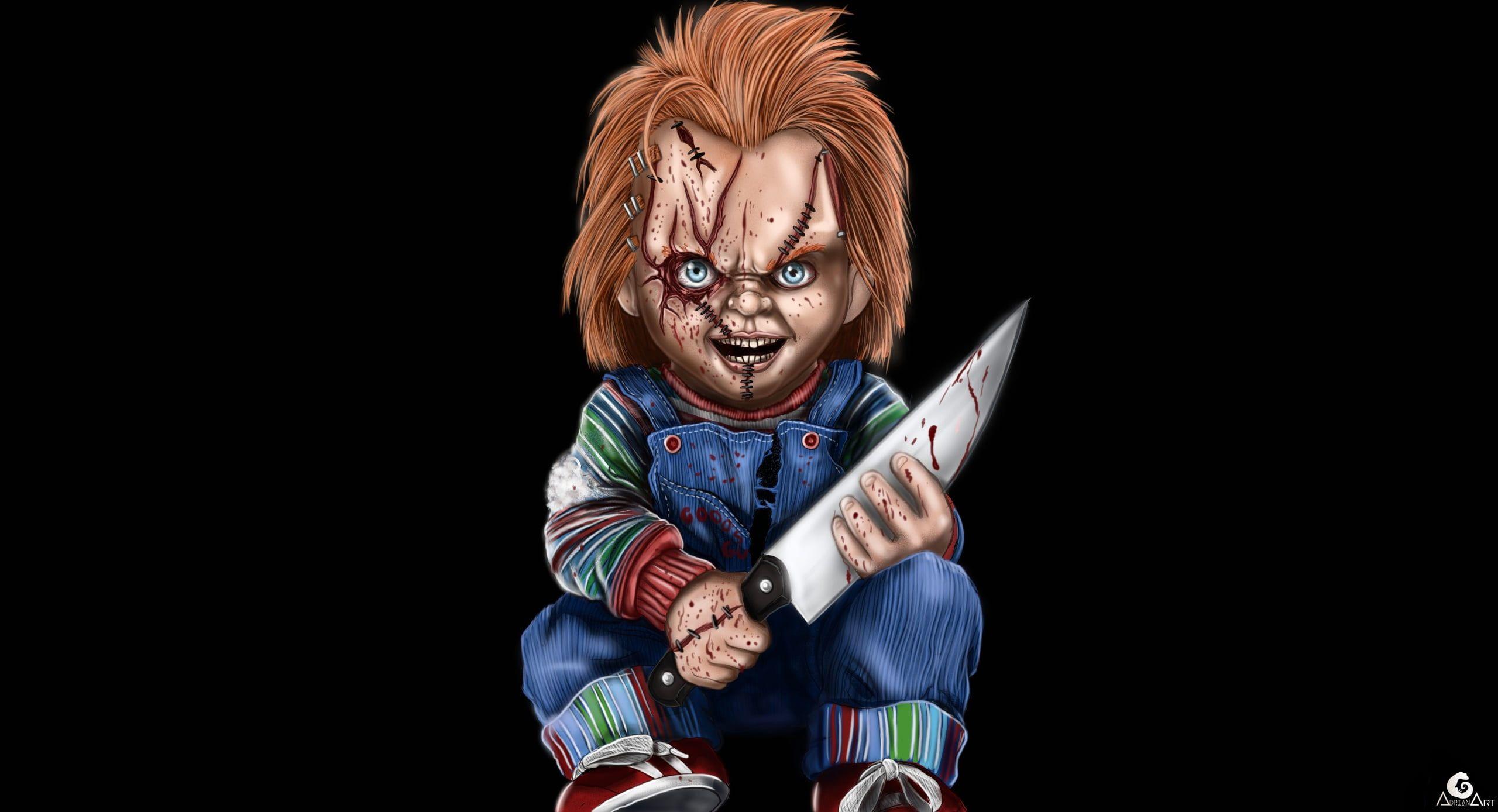 Horror Chucky Puppets Knife 2k Wallpaper Hdwallpaper Desktop In 2020 Character Wallpaper Billy The Puppet Chucky