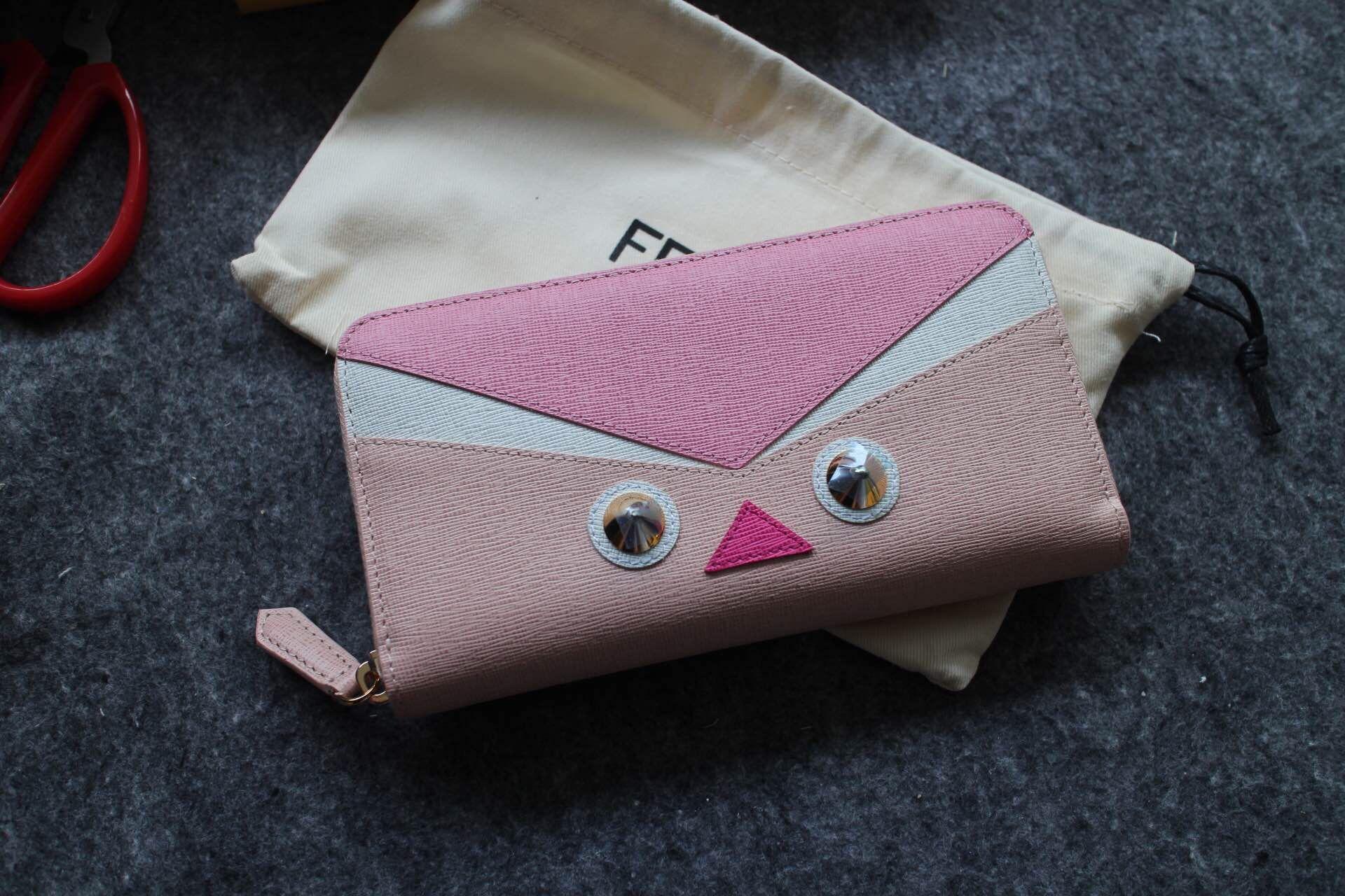de0c263ef3e Fendi Crayons Wallet pink/white 2015 | Fendi Women's Bag Straps ...