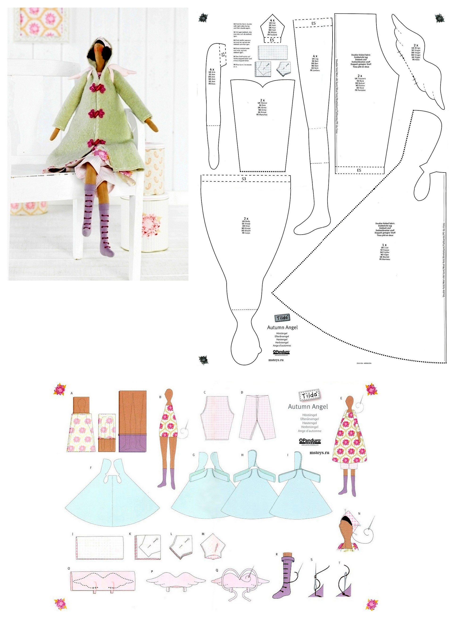 tilda + strih na kabát | Projets à essayer | Pinterest | Otoño ...