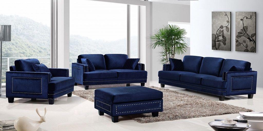 Blue Fabric Sofa Set Latest Design 2018 Sofa Set Designs Sofa