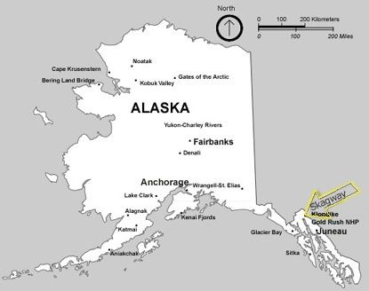 Basic Map Of Alaska Showing Cities And Towns In The State - Alaska map with cities and towns