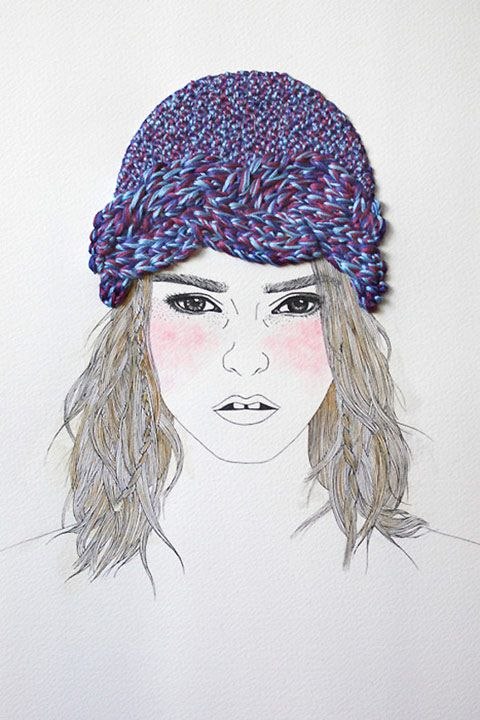 Izziyana Suhaimi. Knitted hat sketch.