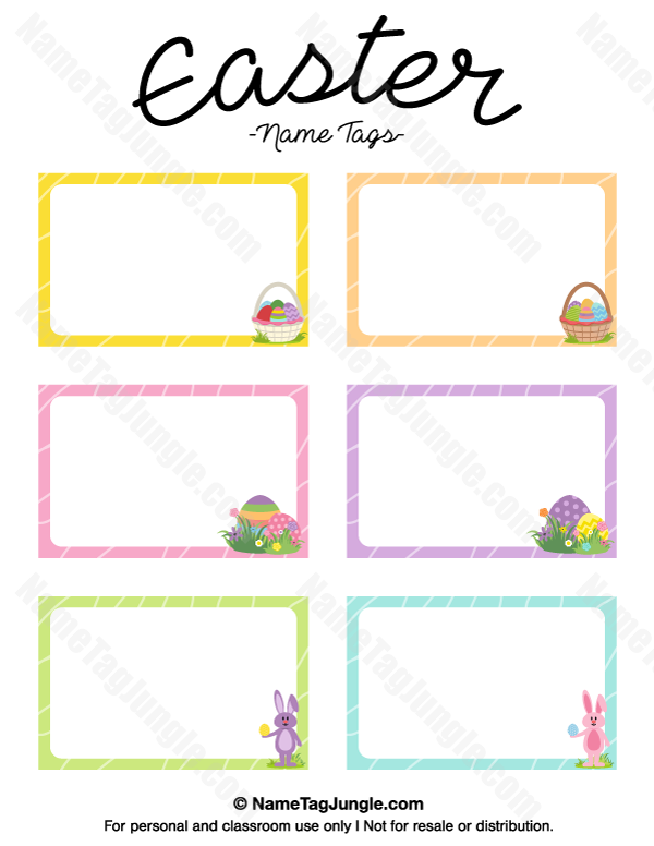 Free Printable Easter Name Tags The Template Can Also Be Used For Creating Items Like Labels And P Easter Printables Free Easter Tags Free Printable Name Tags