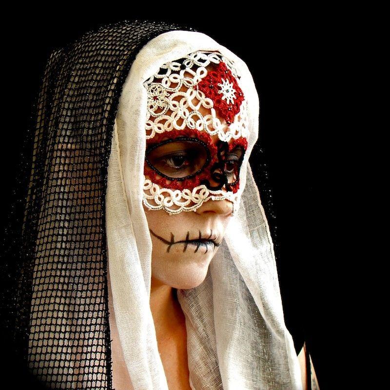 """""""Sugar Skull Mask"""" by totusmel Sugar skull, Skull mask"""