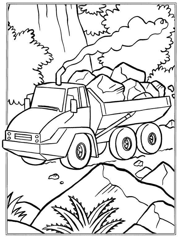 coloring page Trucks - For the boys | Coloring pages ...