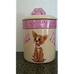 Chihuahua Cookie Jar Gorgeous Personalized Chihuahua Dog Cat Pet Treat Cookie Jar  Personalized