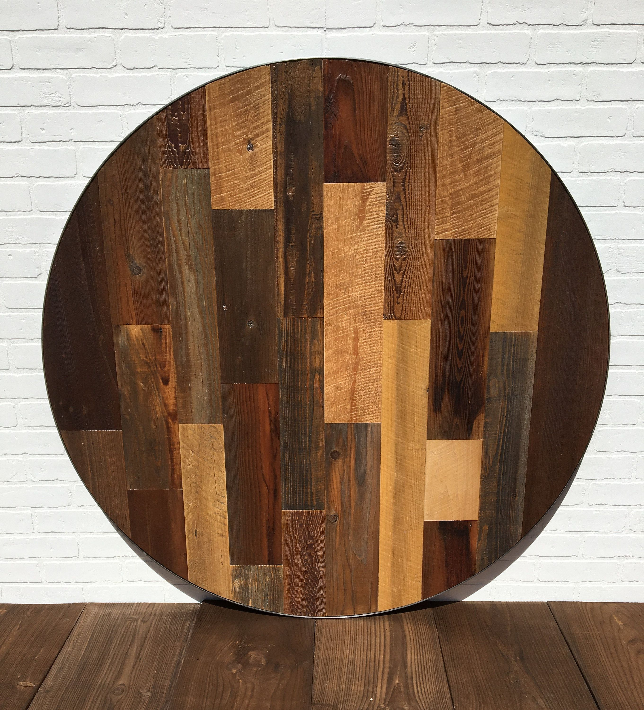 Round Table Round Reclaimed Table Rustic Table 48 Inch Round Table