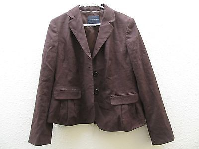Republic Banana Brown Womens Blazer Jacket Suit Pinstripe 14 PTdzSq