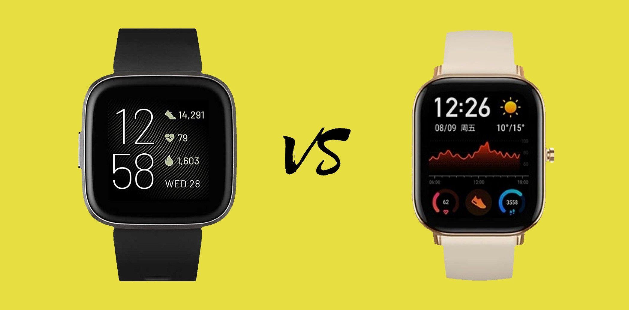 Fitbit Versa 2 Vs Amazfit Gts Análisis Comparativo Con Características Precios Y Opinión Fitbit Smartwatch Analisis Comparativo
