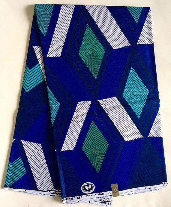 tissu africain bleu turquoise