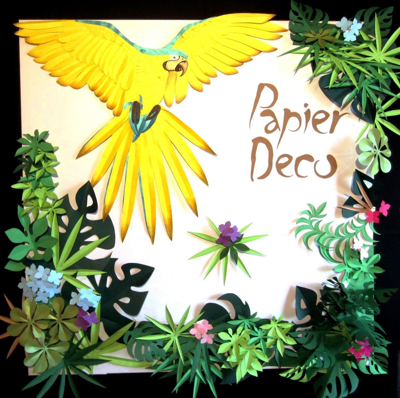 Tropical Bird Leaves Art Wall Home Nursery Decor - Baby Girl Boys ...
