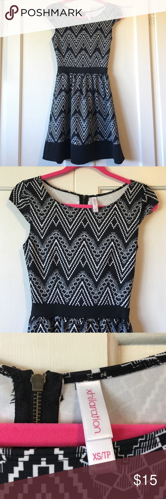 Super Cute fit n flare dress Worn a few times, but in great shape! I absolutely loved this dress, as you can dress it up or down! Xhilaration Dresses Midi