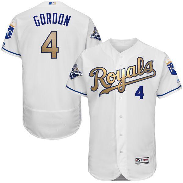low priced e96e8 eb6fa Men's Kansas City Royals Alex Gordon Majestic Home White ...