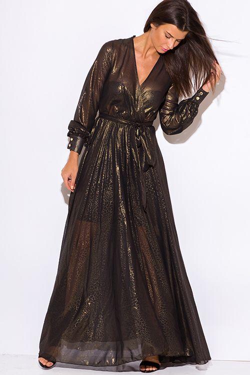 Gold maxi dress for cheap