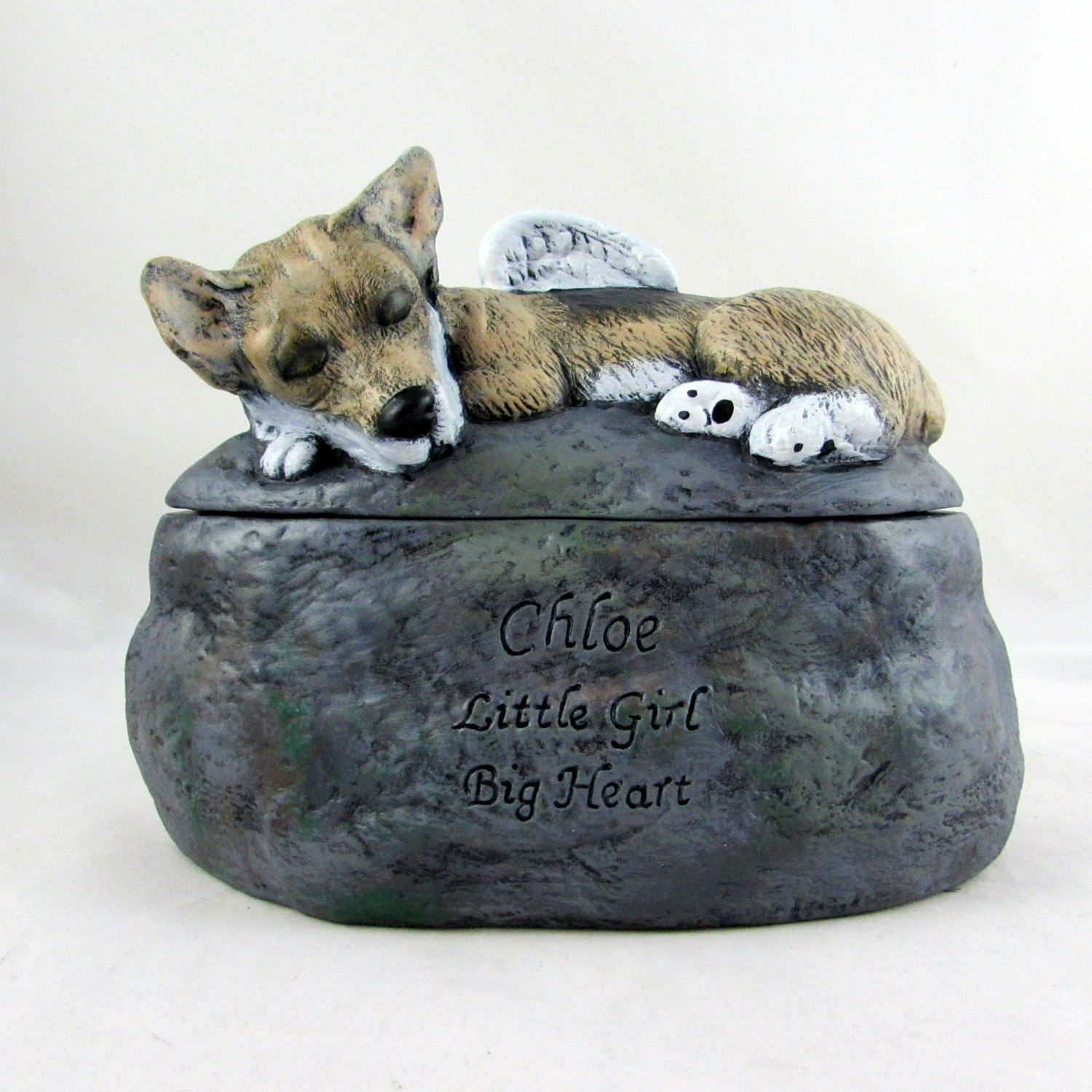 Corgi Ceramic Hand Sculpted And Painted Dog Cremation Urn Pet