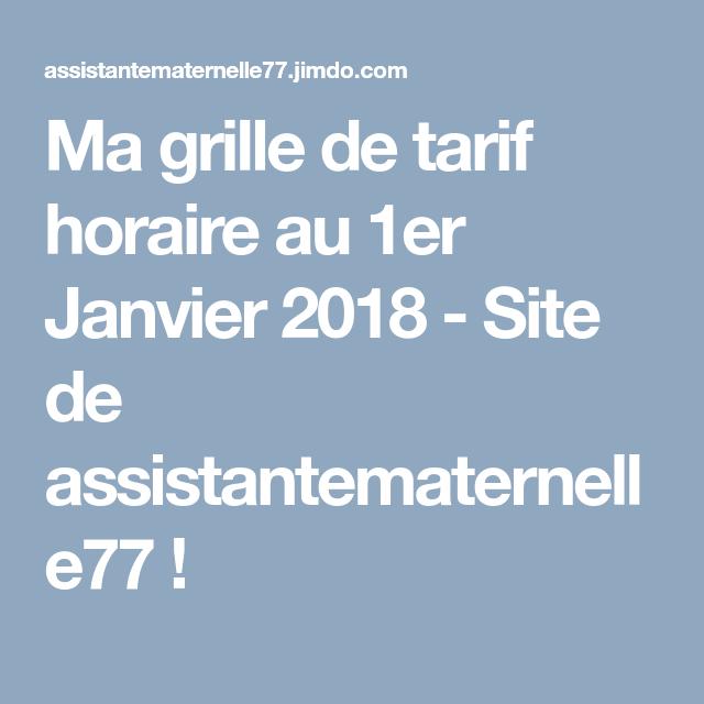 Ma Grille De Tarif Horaire Au 1er Janvier 2018 Site De
