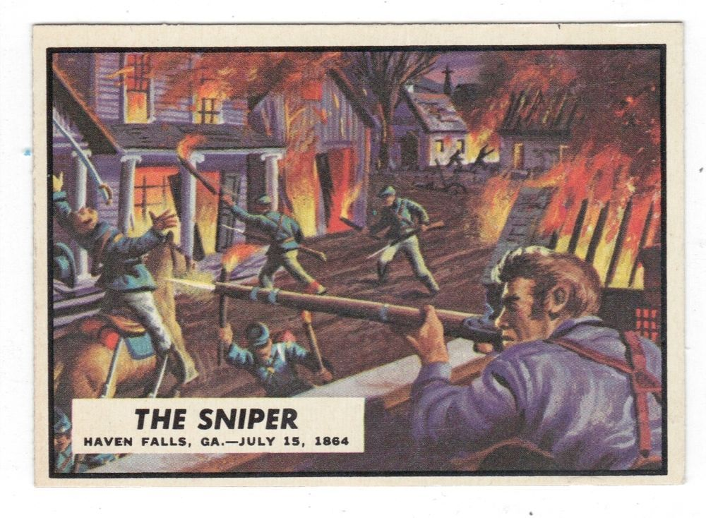 1962 topps civil war news card 70 the sniper near mint