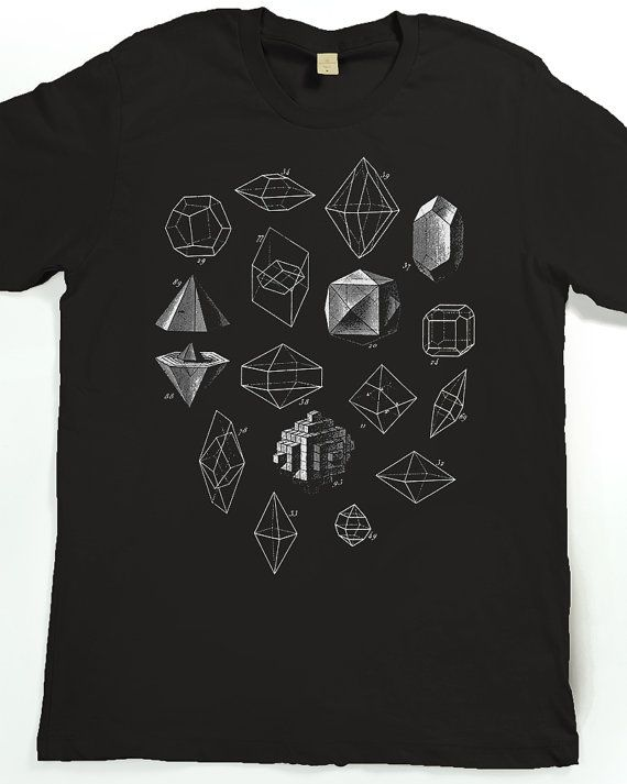 63761700d26d Geometric Shapes T-shirt - Men s Graphic Tee Shirt - Geometric Math Art  Tshirt