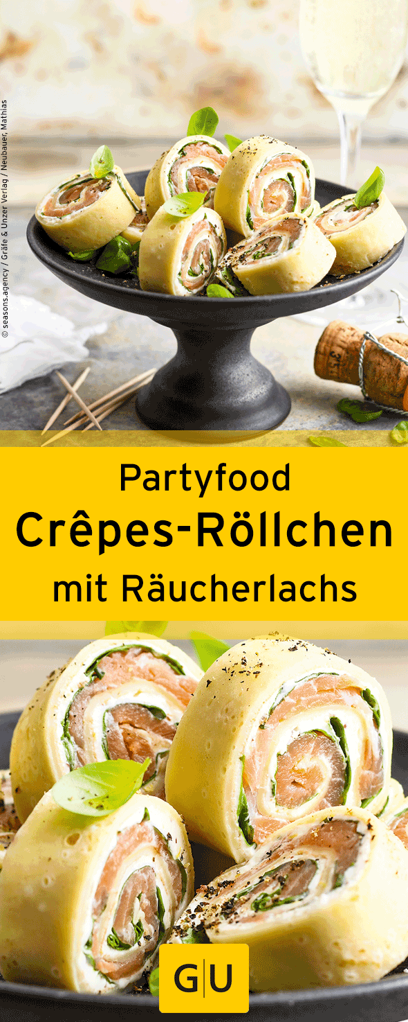 fingerfood f r die silvesterparty rezept f r leckere cr pes r llchen mit r ucherlachs ihr. Black Bedroom Furniture Sets. Home Design Ideas