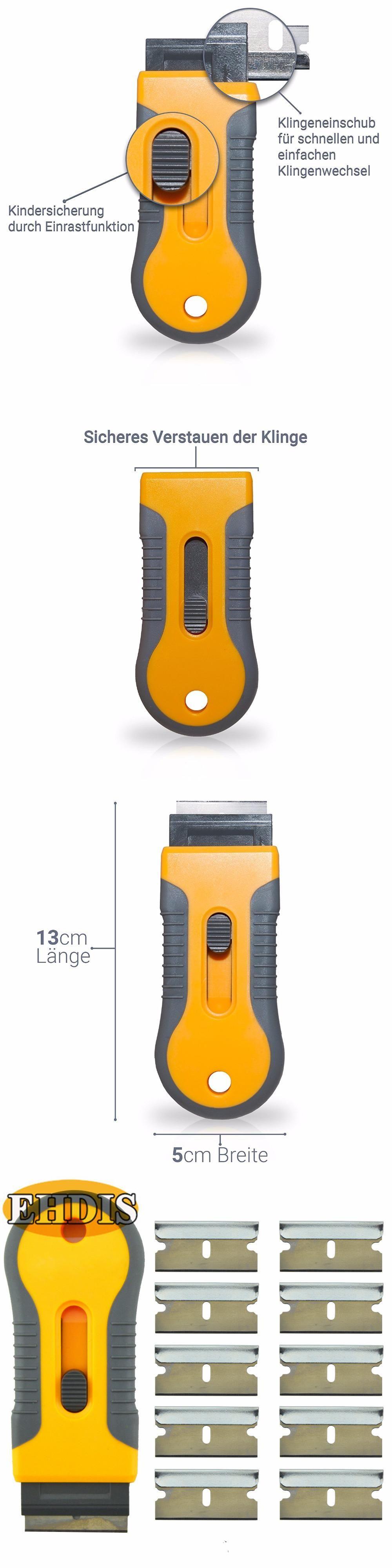 Ehdis car sticker wrap scraper with 10pcs razor blades