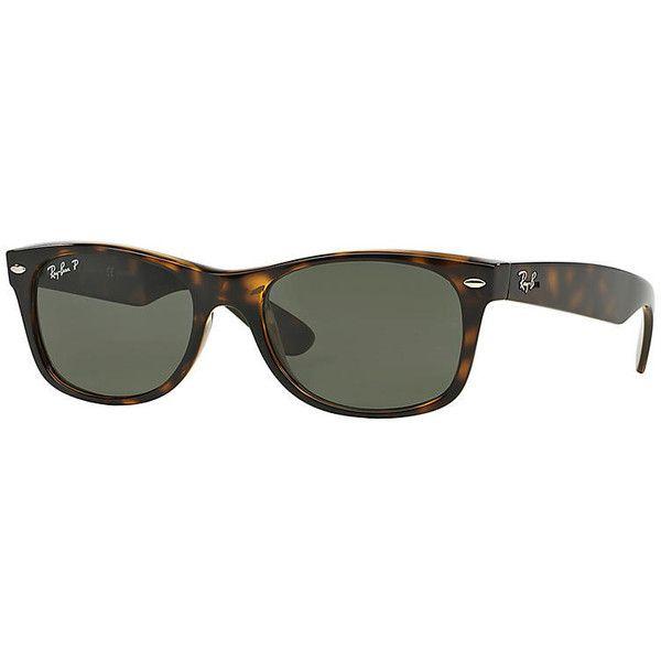0a517f366d9 ... get ray ban mens new wayfarer blue sunglasses polarized green lenses .  cf666 90857