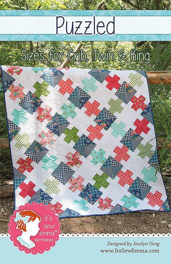 Puzzled Pattern by It's Sew Emma - Fat Quarter Shop's Jolly Jabber ... : fat quarters quilt shop - Adamdwight.com