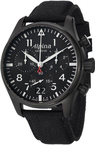 Men's Wrist Watches - Alpina Startimer Pilot Mens Big Date Chronograph Watch AL372B4FBS6 ** Find out more about the great product at the image link. (This is an Amazon affiliate link)