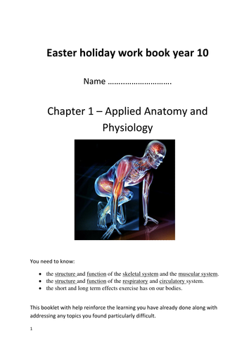 OCR GCSE PE Chapter 1: Applied anatomy and physiology workbook ...