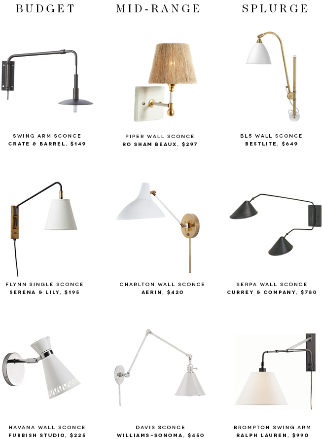 9 Bedside Sconces To Brighten Up Your Nighttime Reading Wall