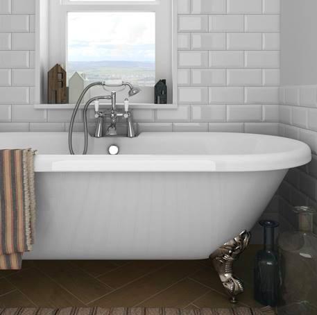 white metro tiles: buy metro gloss white tiles | victorian