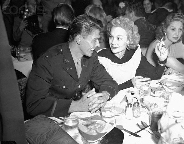 Ronald Reagan with Jane Wyman at Ball