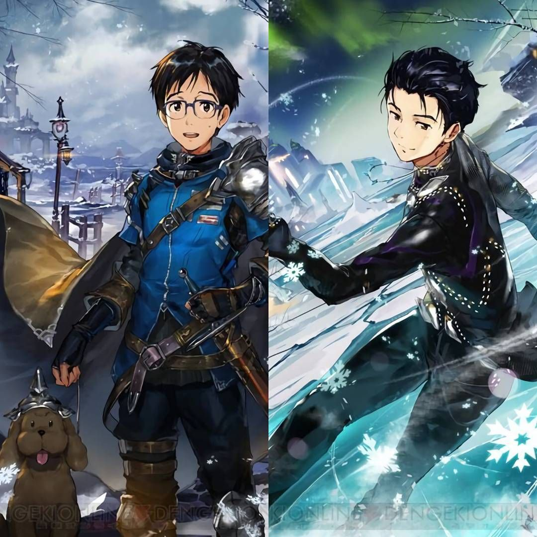 • • •  I heard that this RPG fantasy game used to have eng version but it's already stopped last year.   Game : 神撃のバハムート / Shingeki no Bahamut #yurionice #katsukiyuri