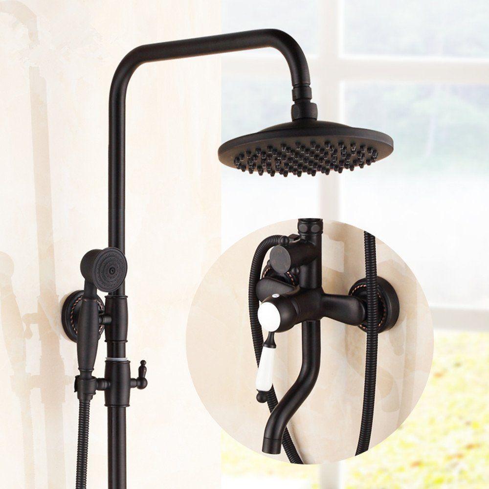 Bronze und schwarz Dusche komplette Duscharmatur heben