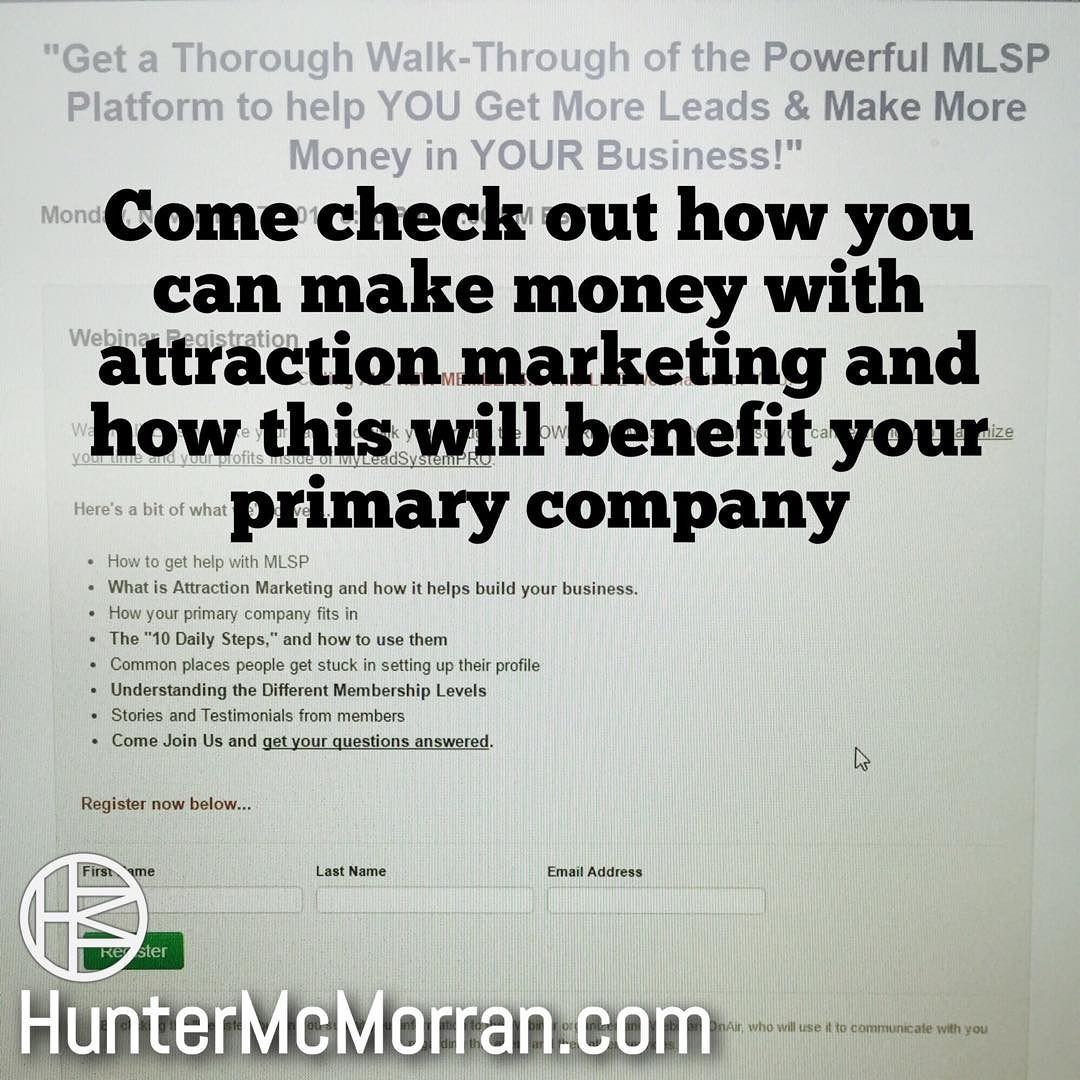Come Join Me On Mlsp S Weekly Monday Orientation Webinar Today You Get To Learn How Free Network Marketing Network Marketing Training Online Network Marketing