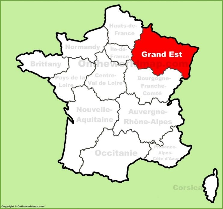 Grand Est location on the France map | Maps | Urlaub и Stadt