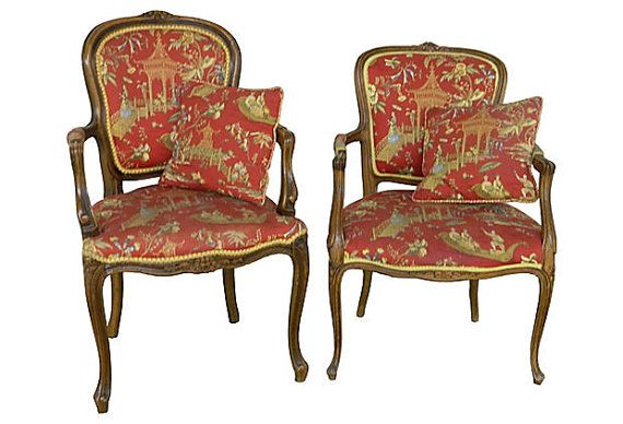 French Bergeres Antique French Provincial Chairs Carved French