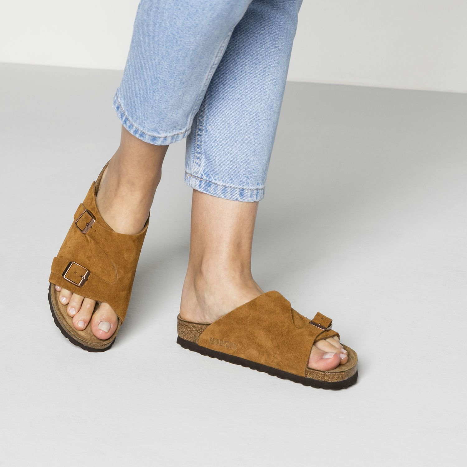 Zürich Suede Leather Soft Footbed | Suede leather, Spring