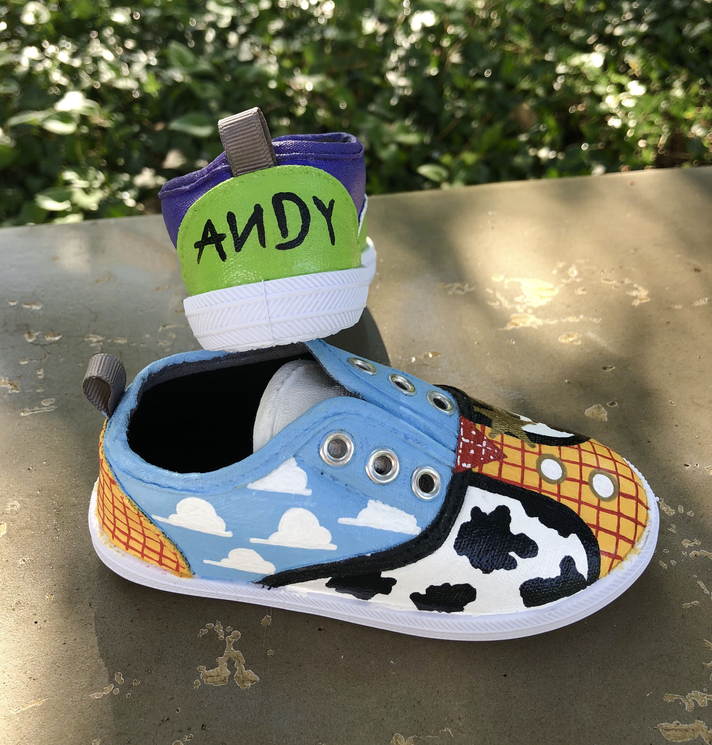 Toy Story Painted Shoes by Just For