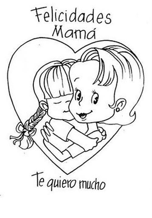 Dibujos+De+Corazones+Para+Colorear+Para+Mamá | Mamas | Pinterest ...